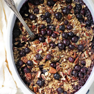 Baked Blueberry and Apple Oatmeal.