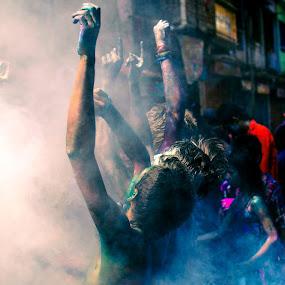 The Festival Dance by Rahat Amin - People Street & Candids ( life, lifestyle, festival, fun, celebration, holi, enjoy, nikon, d5100, people, pwccandidcelebrations )