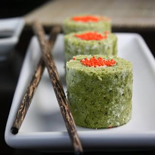 Matcha Cake Sushi Rolls