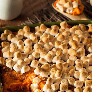 Brown Sugar-Glazed Sweet Potatoes with Marshmallows recipe | Epicurious.com.