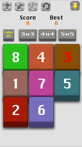 Number Slide-15 Fifteen puzzle