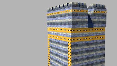 Photo: Modelo 3D - Torre estilo Babilonia - Blender 3D
