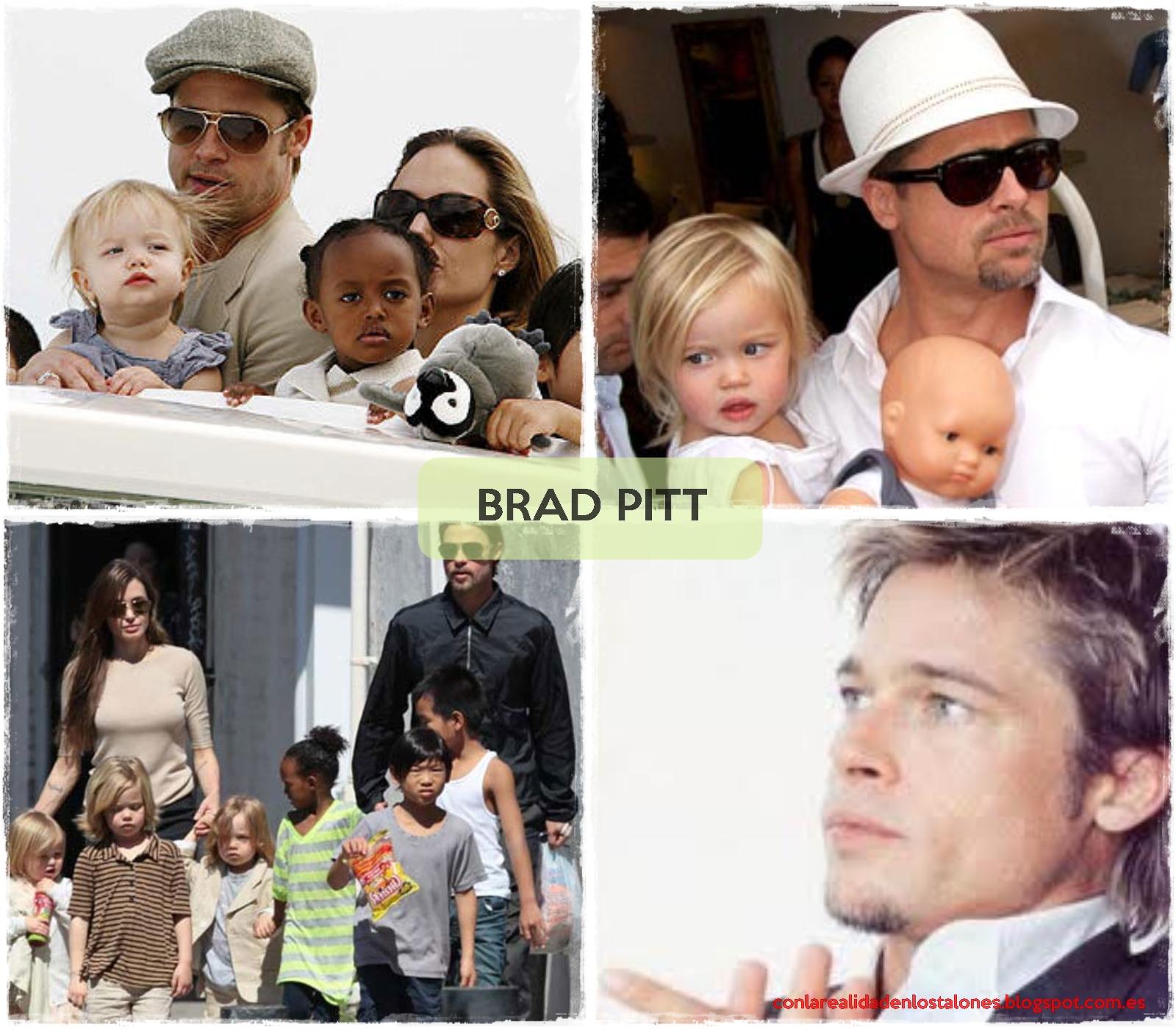 Brad Pitt y sus hijos