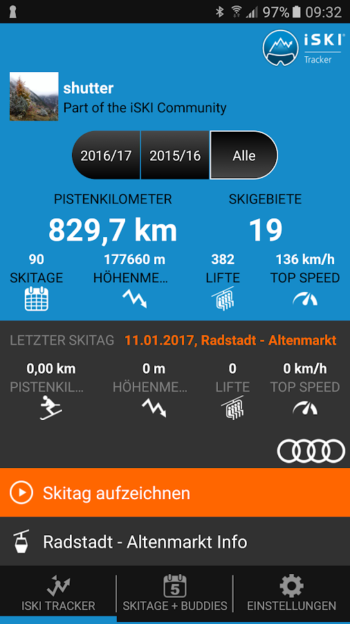 iSKI Tracker- screenshot