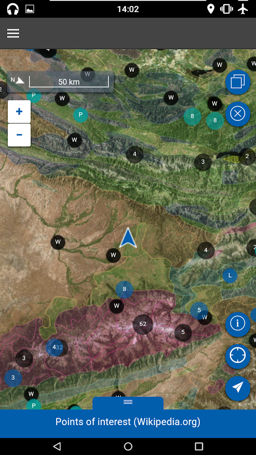 Flyover Country - trip map- screenshot