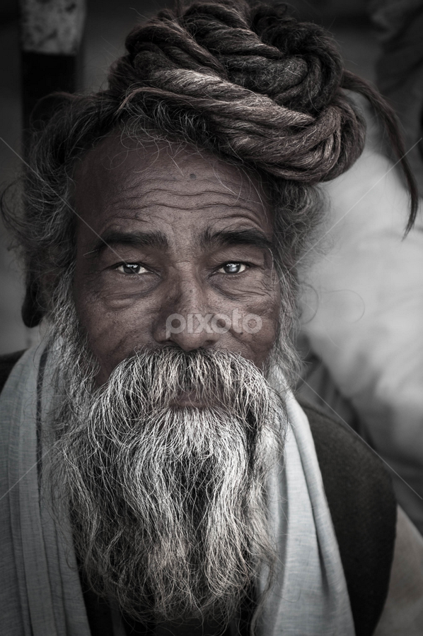 Hindu Sadhu by Shikhar Sharma - People Portraits of Men