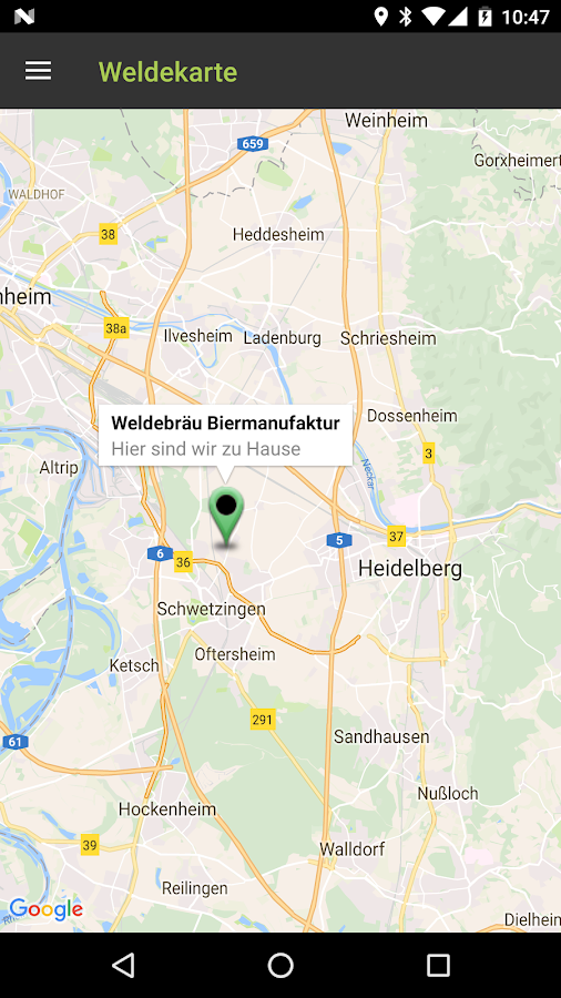 Welde Braumanufaktur- screenshot