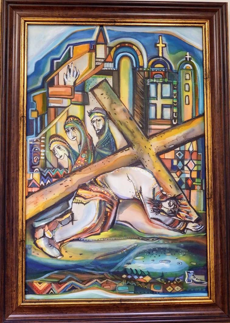 Győr - A belvárosi keresztút alkotásai a Triangulum Galériában