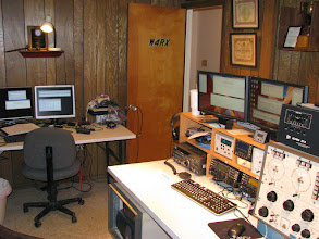 Photo: V/UHF FM station (left) and CW & SSB HF station (right)