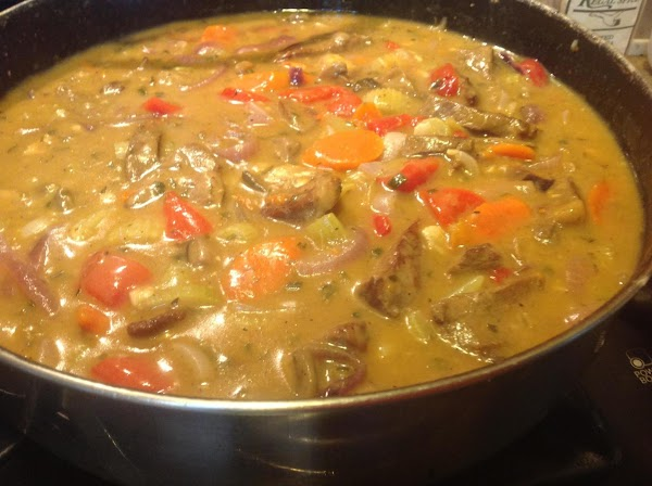 Lower heat, and continue to cook for about 30 to 35 minutes, stirring frequently...
