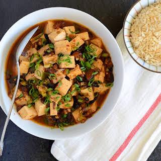 Vegetarian Mapo Tofu.
