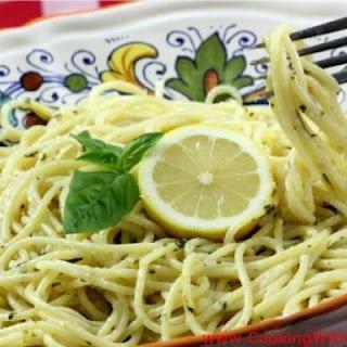 Spaghetti al Limone - Spaghetti with Lemon Sauce.