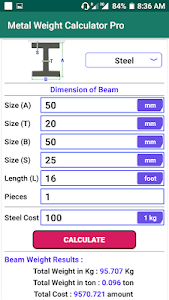 Download Metal Weight Calculator Pro APK latest version 1 0 for android  devices