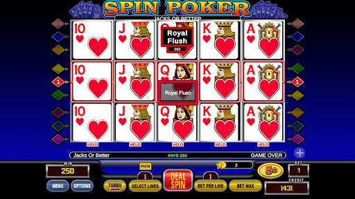 Spin Poker™ - Casino Free Deluxe Poker Slots Games 1.1.2 screenshots 1