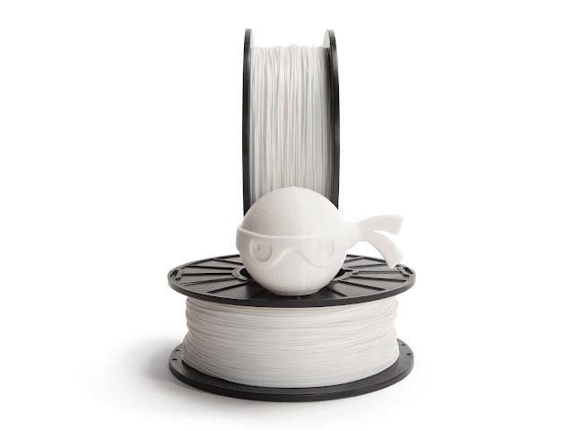 NinjaTek Chinchilla Snow White TPE Filament - 1.75mm (0.5kg)