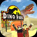 Dino Theme Park Craft: Ride Dinosaur Rollercoaster icon