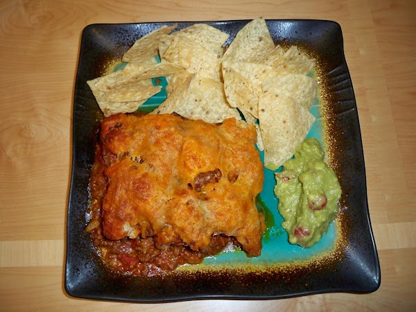 Serve with home made guacamole. YUM!
