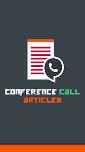 Conference Call Articles 1