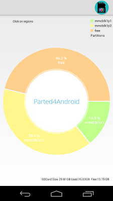 Parted4Android (SD Partition) - screenshot