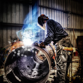 Earning $$$ by Ian McConnell - People Portraits of Men ( welder )