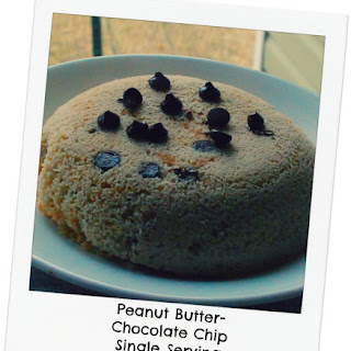 Peanut Butter- Chocolate Chip Single Serving Cake! (S)