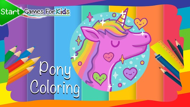 Pony Coloring Book For Kids Apk Screenshot