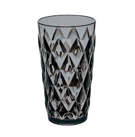 CRYSTAL L, Högt glas, Transparent Grå 6-pack