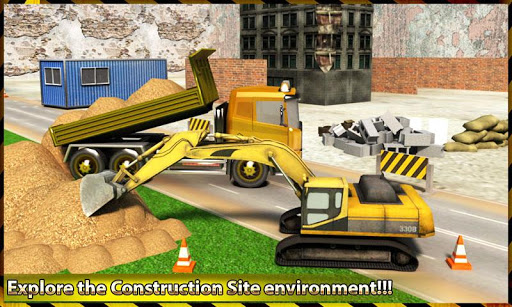City Construction Excavator 3D