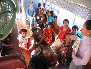 Photo: Green bus classroom