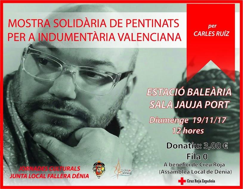 El perruquer Carles Ruiz realitzarà una mostra solidària de pentinats de fallera a Dénia