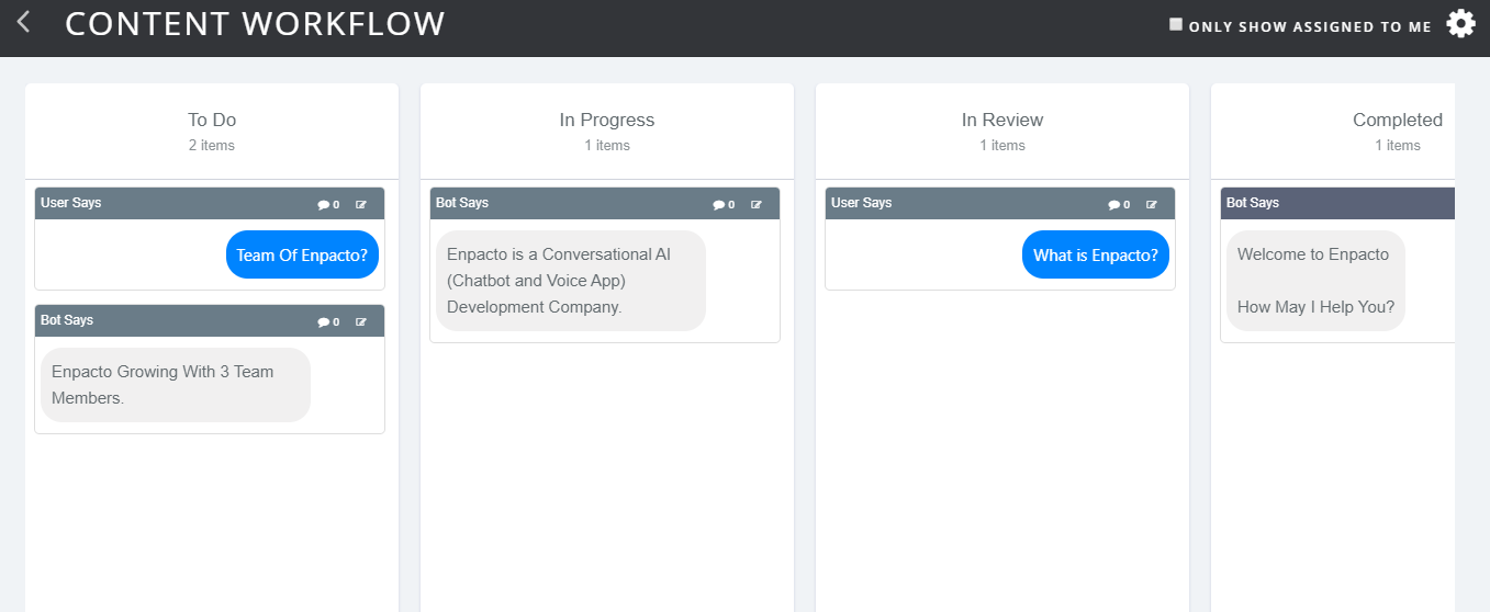 Manage workflow of your project in botmock