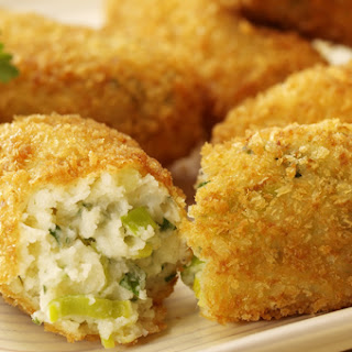 Cheese And Leek Croquettes.
