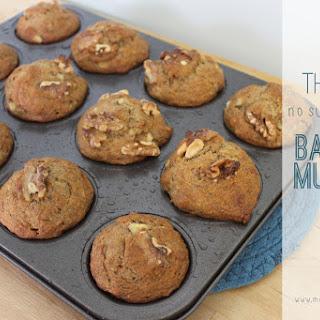 The Best {No Sugar Added} Banana Muffins.