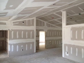 Photo: December 1, 2012 Drywall - living room, dining area. Photo by Lake Weir Living