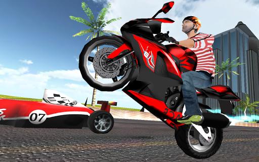 摩托车速度。交通赛车