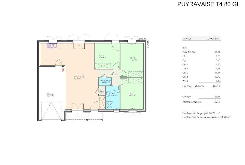 Vente Terrain + Maison - Terrain : 422m² - Maison : 80m² à Le Fenouiller (85800)