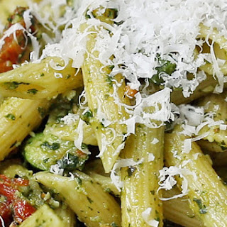1. Pesto Asparagus & Sun-Dried Tomato Pasta