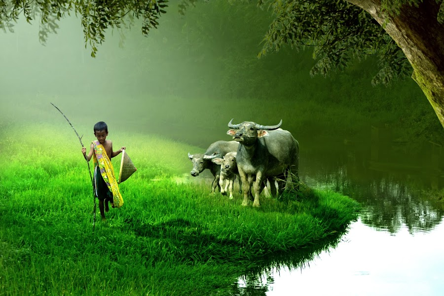 Didalam Hening by Cucu Fuang - Digital Art People ( children, people, photography, animal )