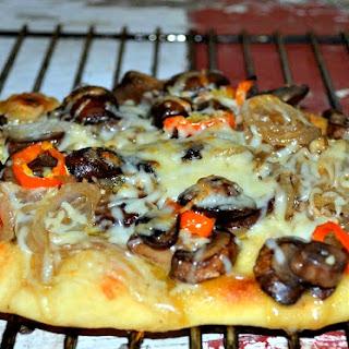 Mushroom Garlic Naan Bread