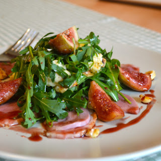 Smoked Duck Salad with Glazed Figs, Blue Cheese & Hazlenuts Recipe