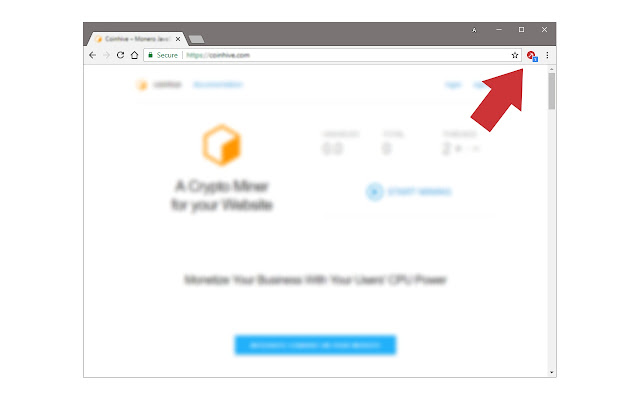 block cryptocurrency mining chrome