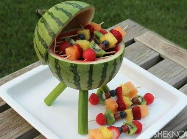 Watermelon Grill With Fruit Kabobs Recipe