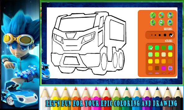 Download Dibujar Y Colorear: Coche De Batalla Real Súper Reloj Apk ...