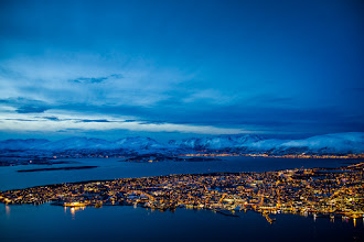 Photo: Tromsø, a city in Northern Norway, a winter afternoon in January