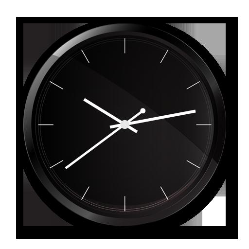 Black Clock Live Wallpaper