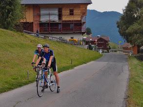 Photo: Dirk en Vincent arriveren als 2de en 3de in de tweede klim als onderdeel van de Pustertaler Höhenstraße.