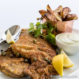 Crispy Wiener Schnitzel with Capers Mayonnaise