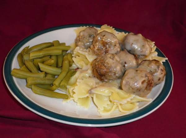 Fruited Meatballs In Dill Gravy Recipe