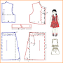 Step make a dress pattern APK icon