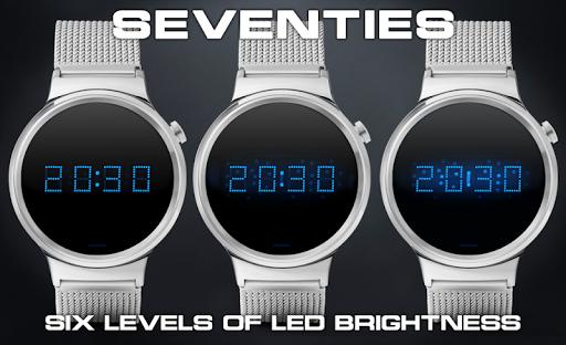 Download LED watch face   Vintage   Seventies Sapphire MOD APK 1